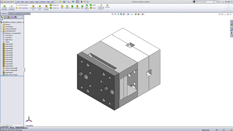 Mold Tool in Solidworks CAD