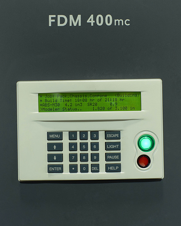 Stratasys FDM400mc User Interface
