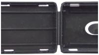 polypropylene (PP) business card holder prototype hinge_view