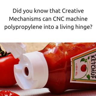 CNC machine polypropylene