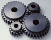 Acetal is an ideal plastic for low friction gears