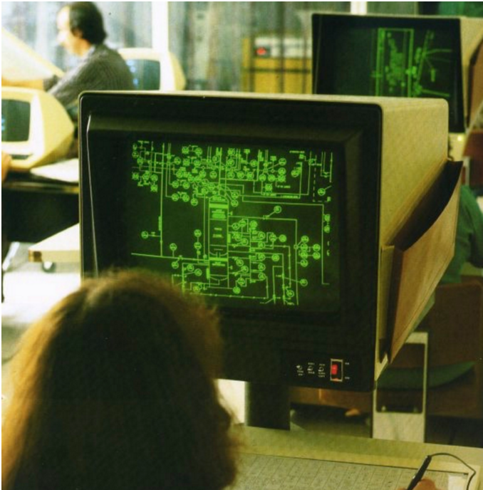 CADDS3 2D Drafting System by Computervision Inc.