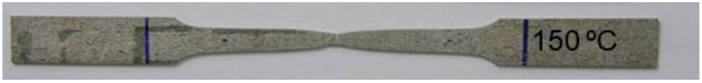Metal Tensile Testing Specimen at Failure