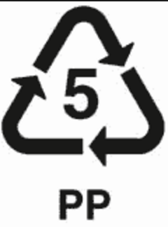 Polypropylene (PP) Resin Identification Code 5 (For Plastic Recycling Purposes)