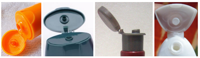 Different Examples of Living Hinges in Consumer Product Bottles (Shampoo, Face Wash etc)