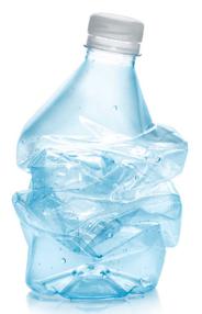 Plastic (PET) water bottles