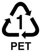"Polyethylene terephthalate resin identification code ""1"""