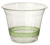 Polylactic Acid (PLA) biodegradeable plastic cup