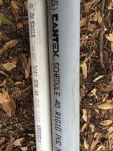Schedule 40 PVC construction pipe