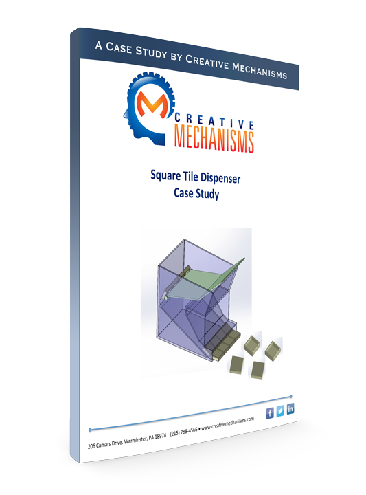 Cm engineering mechanisms and prototype design cams creative mechanisms customer case study square tile dispenser fandeluxe Images