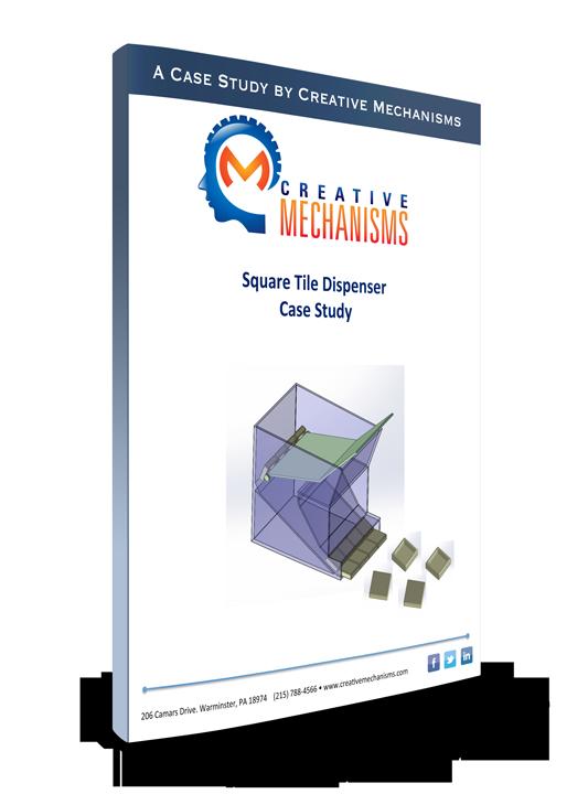 Creative Mechanisms Customer Case Study Square Tile Dispenser