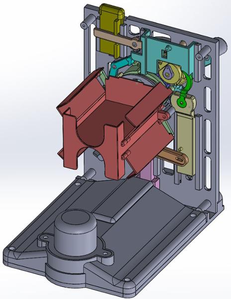Prototype Mechanism with opening basket