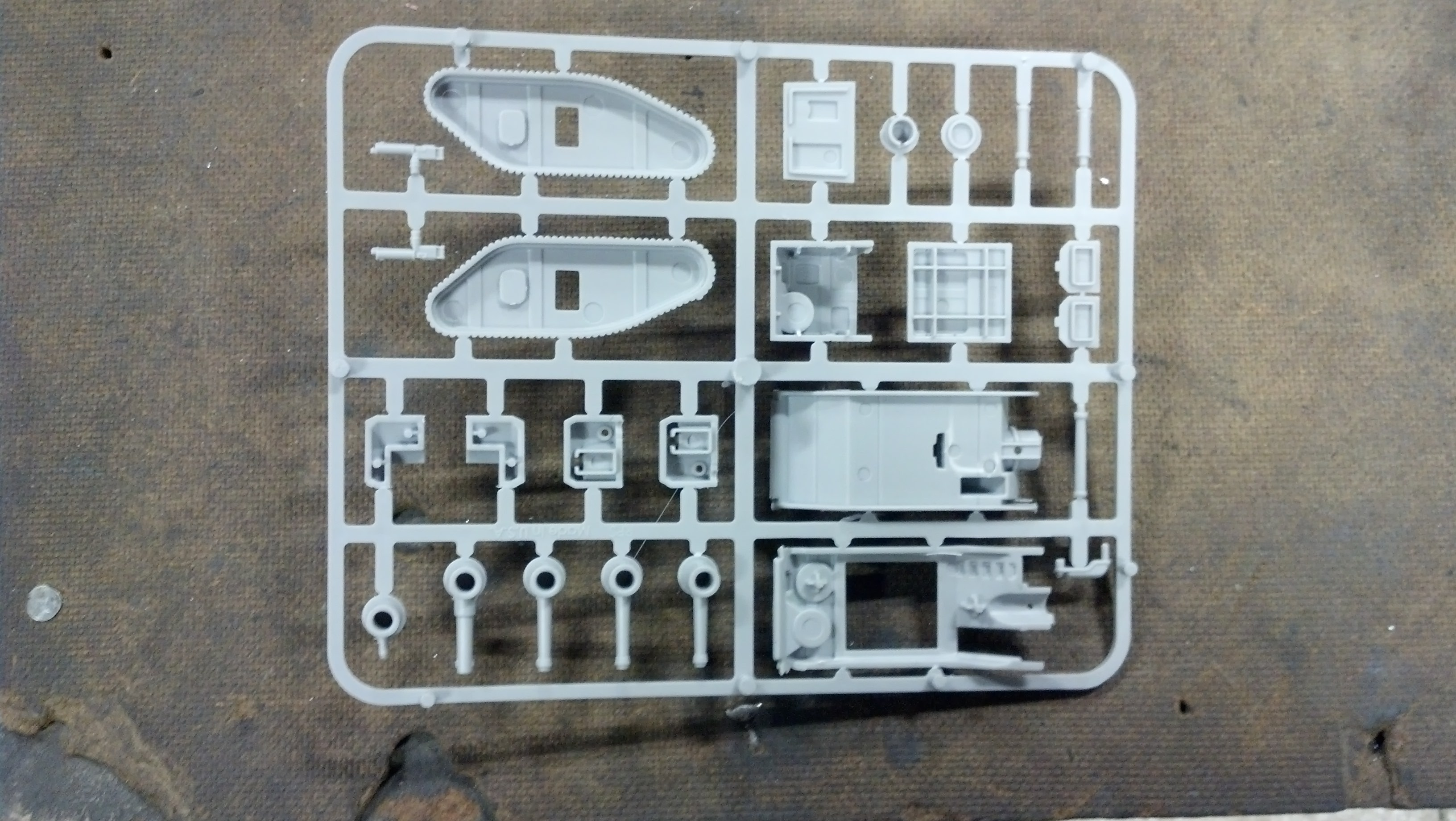 Injection Molded Toy Tank Prototype Parts