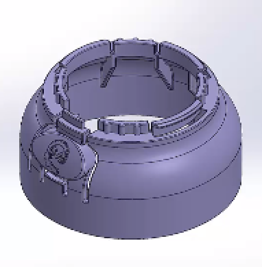 CAD Design For Hinge Release Mechanism on Child Safe Bottle With Living Hinge Cap