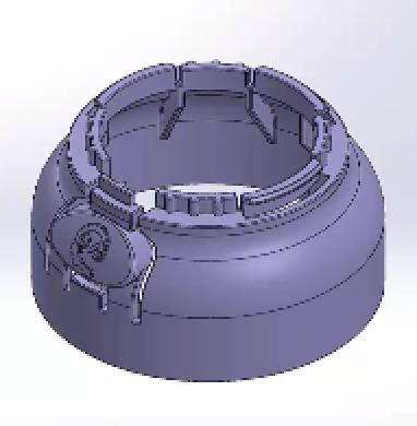 CAD Design For Hinge Release Mechanism on Child Safe Bottle With Living Hinge Cap