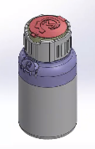 Computer Aided Design For Child Safe Bottle With Living Hinge Lid